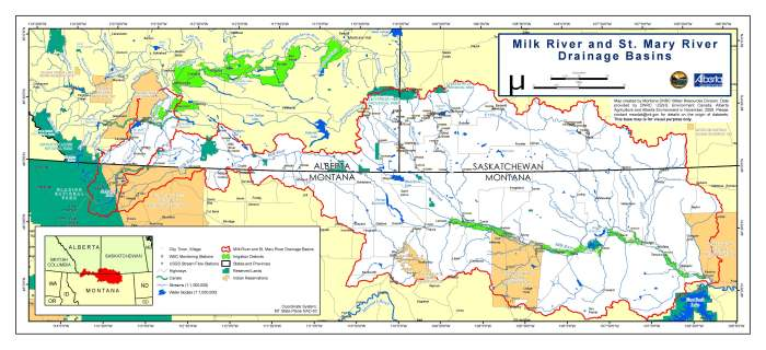 milk river map