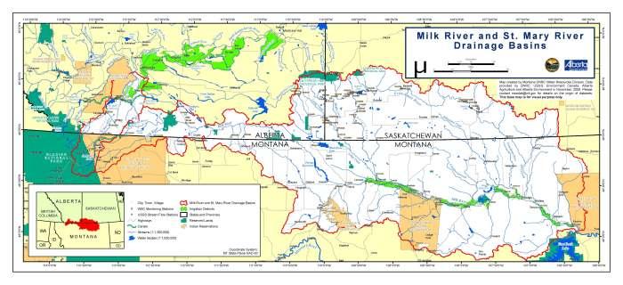 milk river map