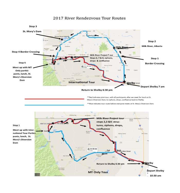 Tour Route maps
